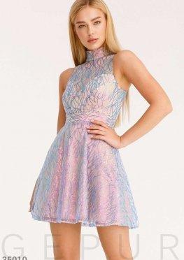 Сияющее платье-мини