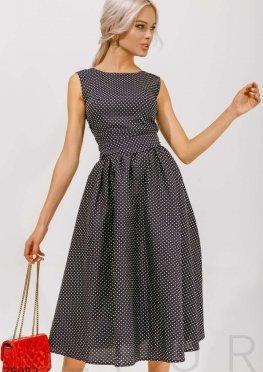 Платье в классический горошек