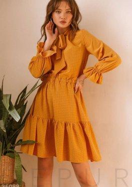 Повседневное желтое платье
