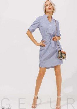 Платье-рубашка с открытой спинкой