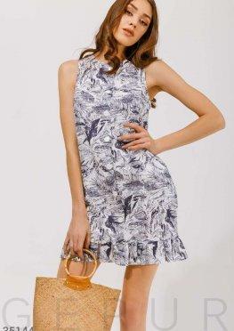 Платье-мини с графичным принтом