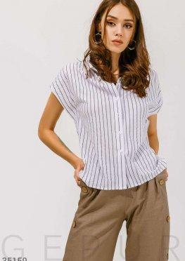 Базовая рубашка в классическую полоску