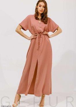Розовое платье oversize