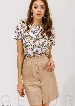 Шелковая блуза с цветами