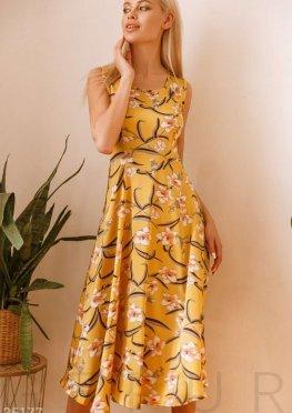 Открытое платье желтого цвета