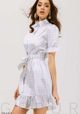 Платье с морским принтом
