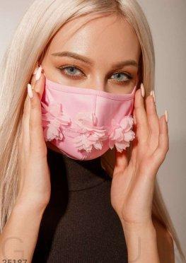 Многоразовая маска с декором