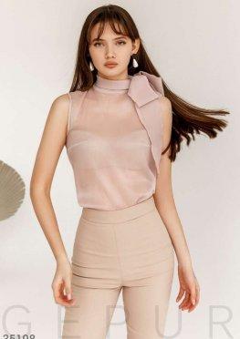 Воздушная блуза из органзы