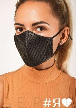 Дизайнерская маска из кожи