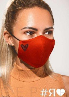 Яркая маска с принтом