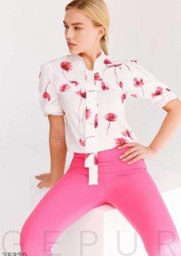 Шелковая цветочная блуза