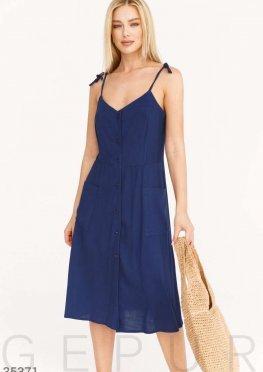 Легкий сарафан темно-синего цвета