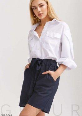 Комфортные шорты темно-синего цвета