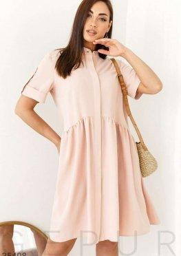 Платье розового цвета со скрытой планкой