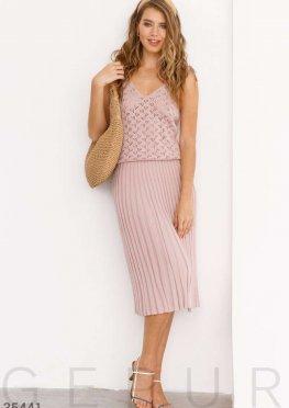 Пудровая юбка в складку