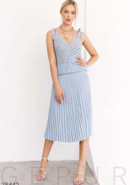 Вязаная юбка небесно-голубого цвета