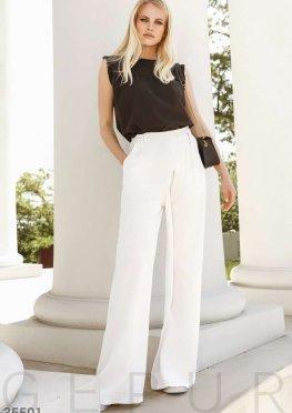 Белые брюки-палаццо с запа?хом