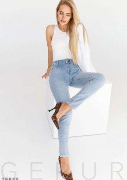Skinny из классического голубого джинса