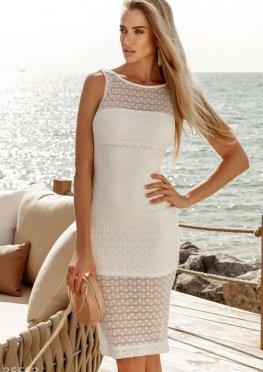 Ажурное приталенное платье