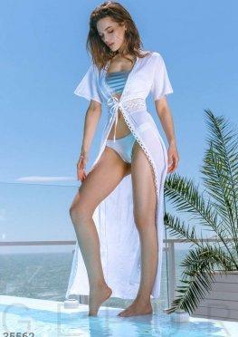 Изящная белая туника с вышивкой