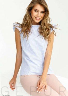Лаконичная блуза с воланами