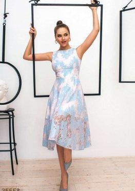 Кружевное платье а-силуэта Gepur
