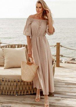 Оригинальное платье-макси Gepur