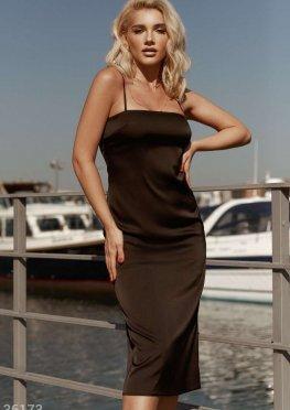 Платье-комбинация черного цвета