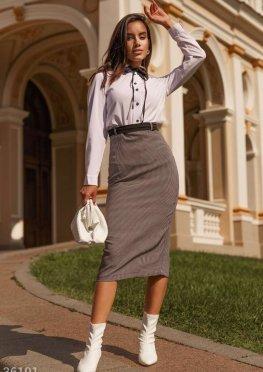 Высокая облегающая юбка