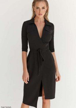 Черное платье на запа?х