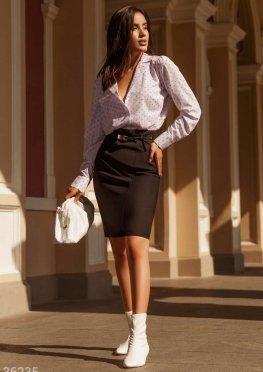 Облегающая юбка в деловом стиле