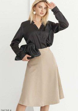 Свободная черная блуза