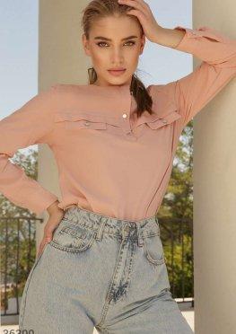Лаконичная блуза с длинным рукавом