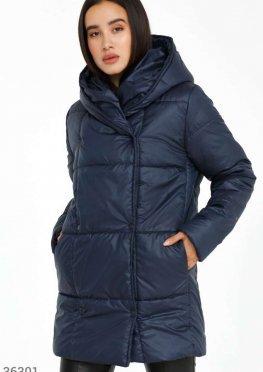 Утепленная двубортная куртка