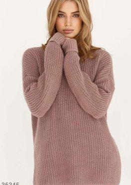 Oversize-свитер с декоративными отворотами