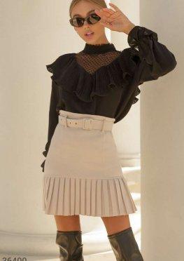 Утонченная блуза с воротником-аскот