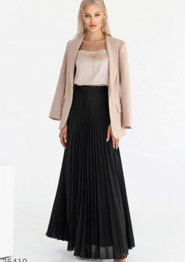 Плиссированная юбка-макси