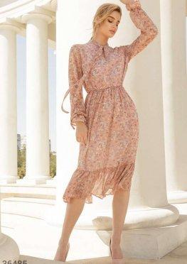 Нежное воздушное платье-миди