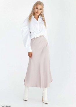 Лаконичная бежевая юбка