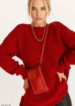 Красная миниатюрная сумка