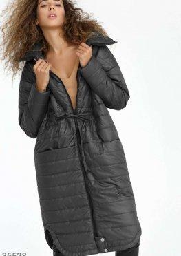 Зауженное теплое пальто