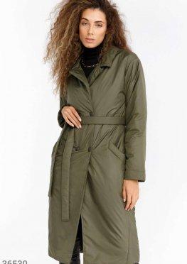 Куртка-тренч цвета хаки