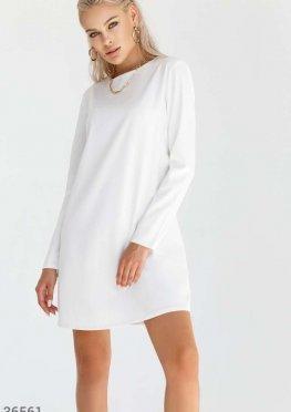 Белое платье а-силуэта