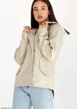 Асимметричная куртка с карманами