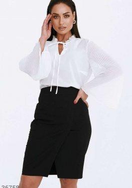 Воздушная белая блуза из шифона