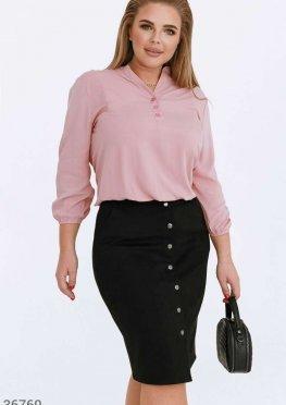 Розовая блуза из смесового хлопка