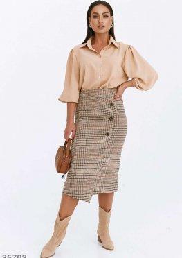 Стильная клетчатая юбка