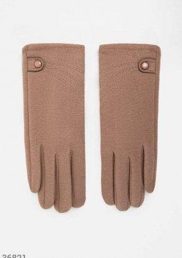 Перчатки базового бежевого цвета
