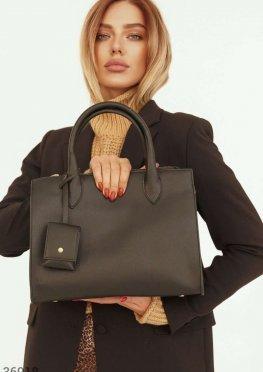 Каркасная сумка из фактурной кожи