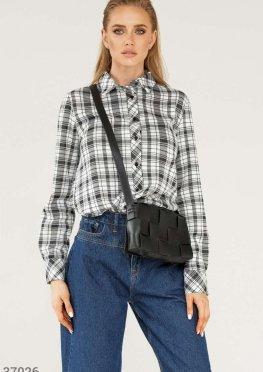 Oversize-рубашка в клетчатый принт